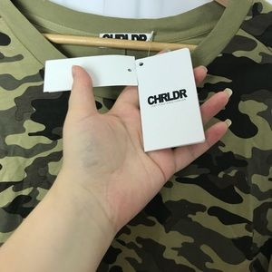 CHRLDR Sweaters - CHRLDR Oversized twist back camo sweater